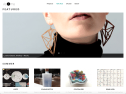 The Featured page contains a curated selection of projects.