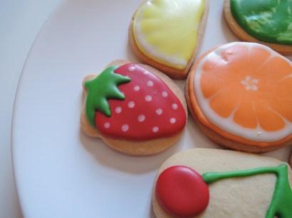 owocki truskawka - ciasteczka maślane