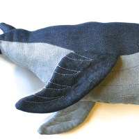 Sewing gifts: denim whales