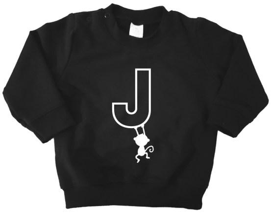 Sweater_Zwart-letter-met-aapje