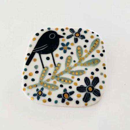 Karen Risby - Porcelain Brooch