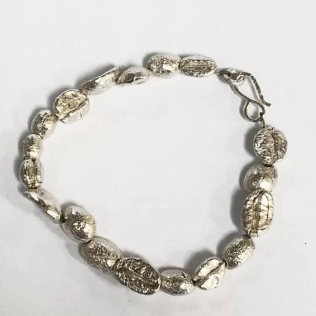 Fiona Hutchinson - Silver Coffee bean bracelet