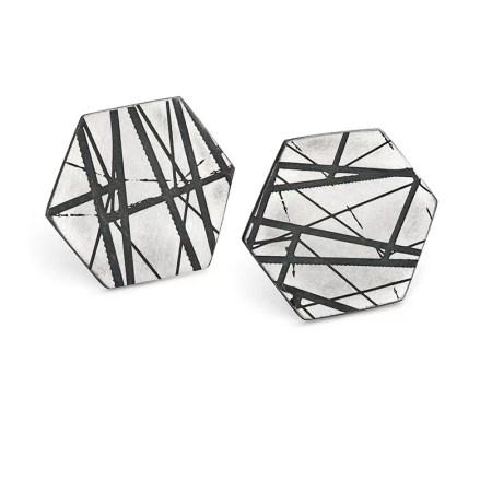 Jodie Hook - Hexagon Stud earrings