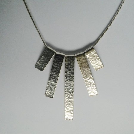 Sarah Steele - Hammered silver necklace