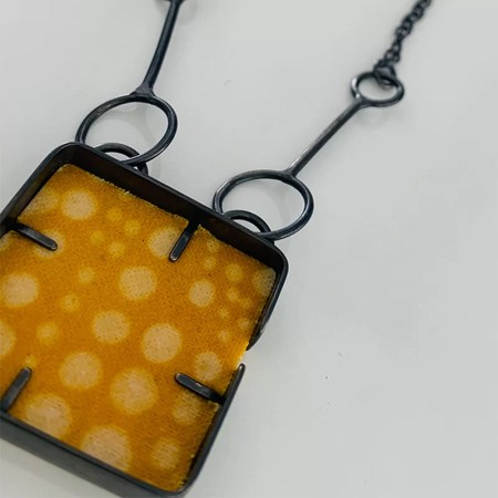 Michelle Daykin - Long cobble pendant