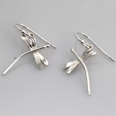 Annette Marshall - Small Dragon fly earrings