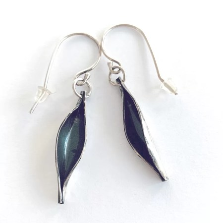 Contrary Mary - silver drop earrings