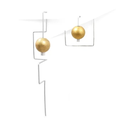 DeeLyn Walsh - Labyrinth mini and maxi earrings spheres