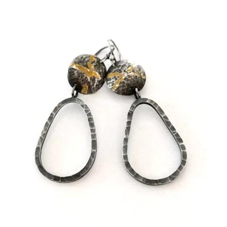 Janet Leitch - long drop earrings