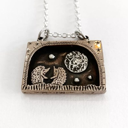Oathill and Kinsfolk - Hedgehog pendant