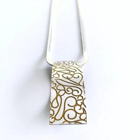 Ria Poynton - Telkari large silver pendant.