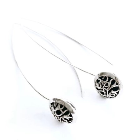 Ria Poynton - Telkari long drop earrings