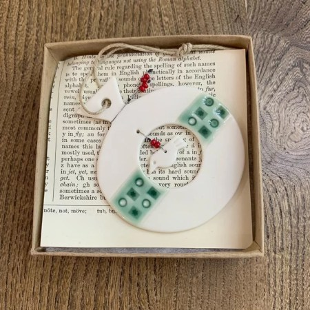 Rhian Winslade - porcelain decoration bauble