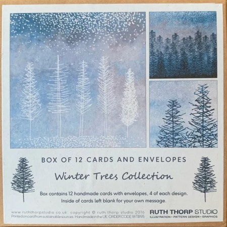12 Card Pack -Winter Tree collection