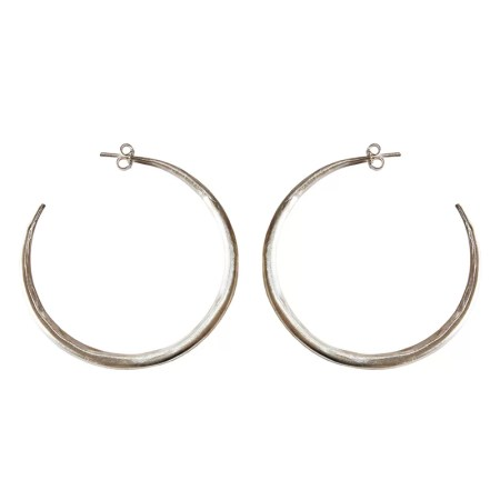Eleni Koumara - large silver hoop earrings