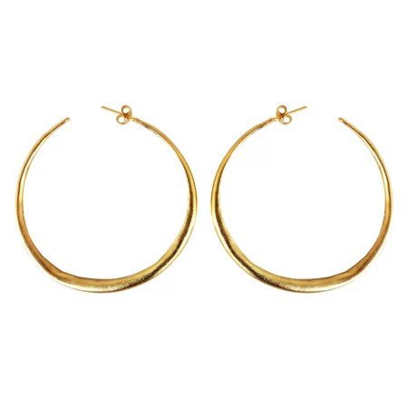 Eleni Koumara - large hoop earrings