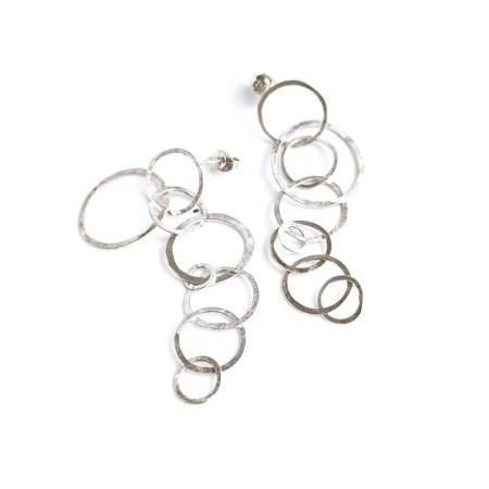 Julia Wright - Long bubble drop earrings
