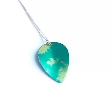 Lisa Marsella - Pendant green tones leaf