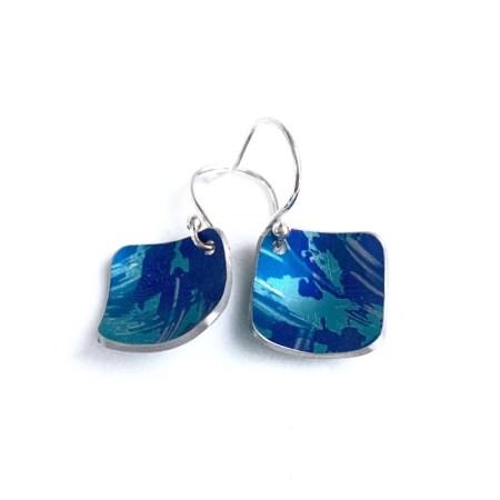 Lisa Marsella - Multi blue tone earrings