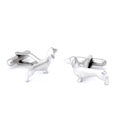 Jim Lancaster - Pewter dash hound  cufflinks
