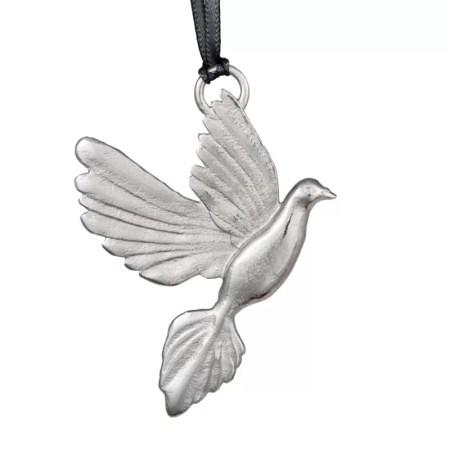 Jim Lancaster- Pewter decorations dove