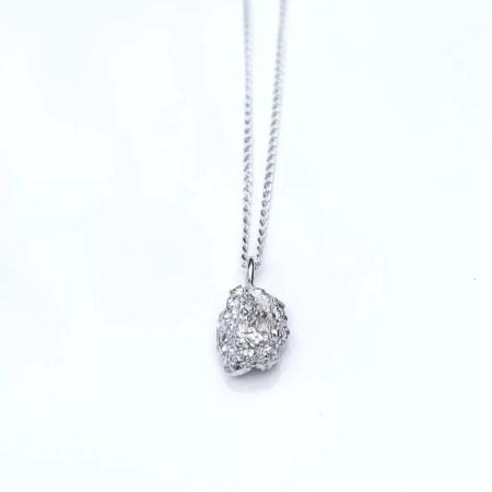 Nobuko - Silver nugget pendant