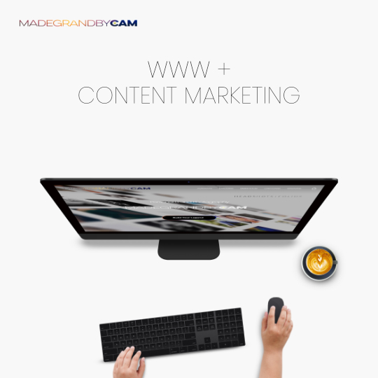 SEO, WEB, & CONTENT MARKETING PRODUCTS FROM MADEGRANDBYCAM
