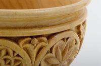 MADEHEART > Deko Vase Handmade geschnitzt Wohnzimmer Deko
