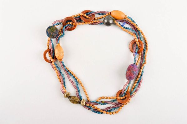 MADEHEART gt Unusual handmade beaded necklace bead necklace