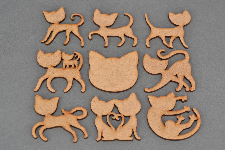 MADEHEART  Set de piezas de madera para pintar Gatos