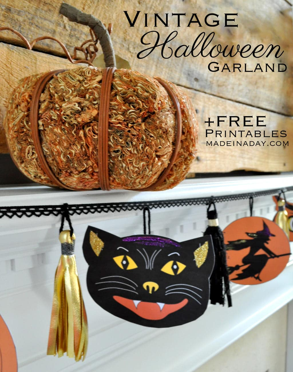 Vintage Halloween Printable Garland