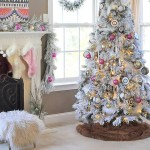 Bright Hot Pink Boho Flocked Christmas Tree This Year Made In A Day