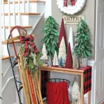 Adorable Buffalo Plaid Christmas Forest Entryway Made In A Day