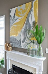 Gold Gilded Marble Canvas: Glam up Your Wall Art  Made in ...