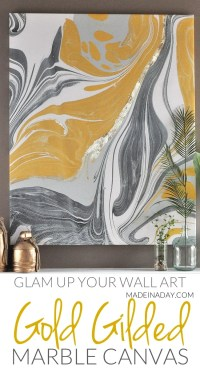 Gold Gilded Marble Canvas: Glam up Your Wall Art  Made in