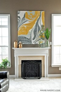 Gold Gilded Marble Canvas: Glam up Your Wall Art
