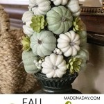 Stunning Fall Pumpkin Topiary Centerpiece Made In A Day