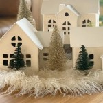 Cozy White Nordic Christmas Village Houses Made In A Day