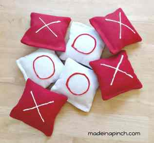 Valentine's Day cornhole bags