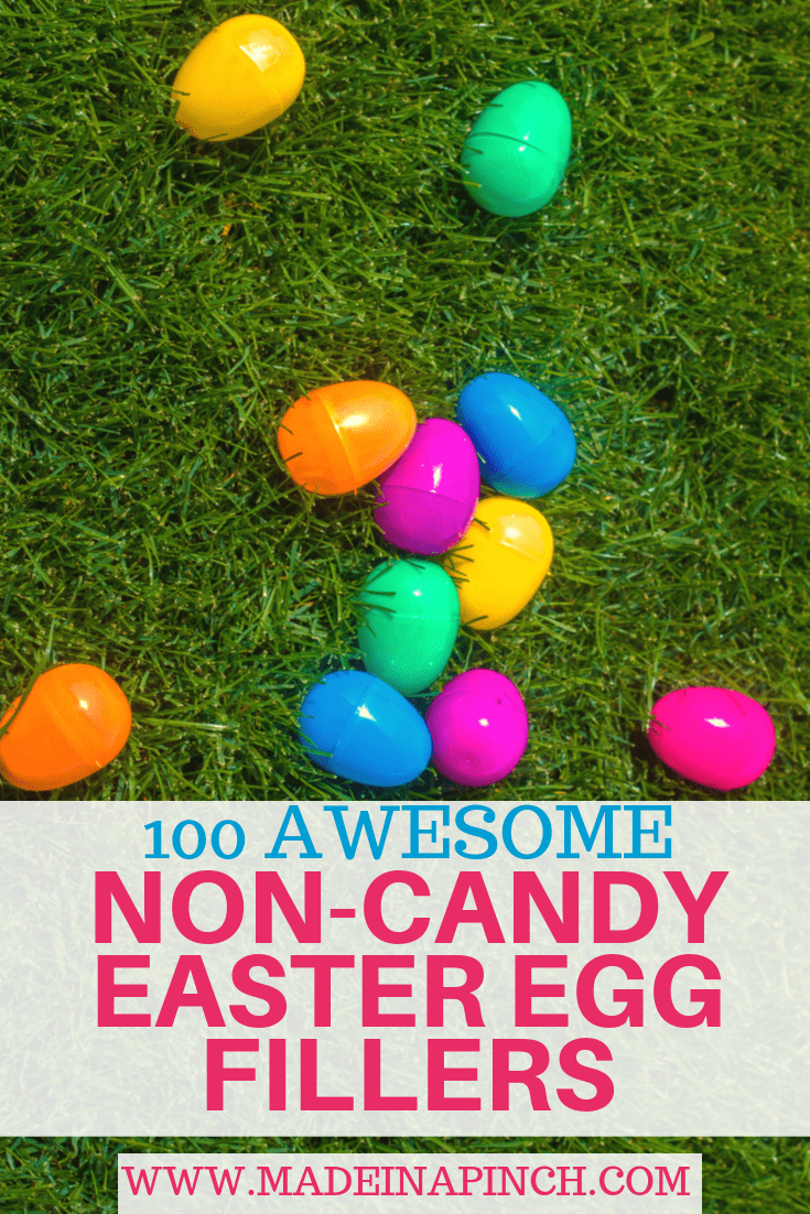 Grab these non-candy Easter egg filler ideas! Kids will love them and you'll feel good about them yourself! Follow us on Pinterest for more helpful tips and easy recipes!