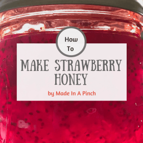 Make Your Own Homemade Strawberry Honey!