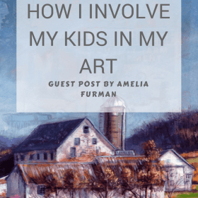 Guest Post: How I Involve My Kids In My Art Making