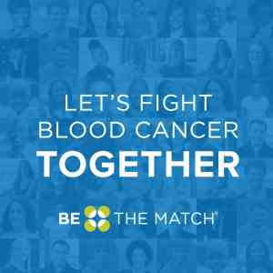 Be The Match Let's Fight Blood Cancer Together image and logo