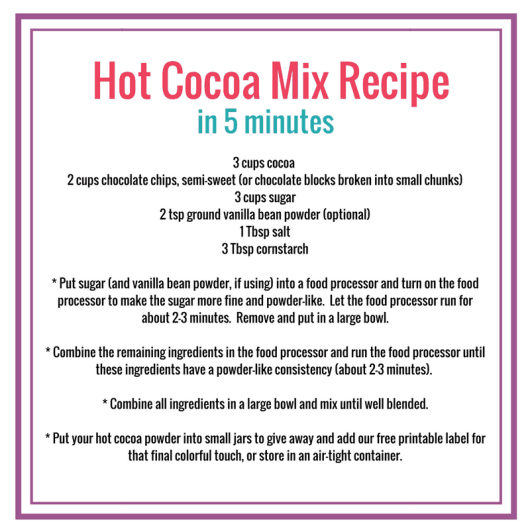 DIY Hot cocoa recipe