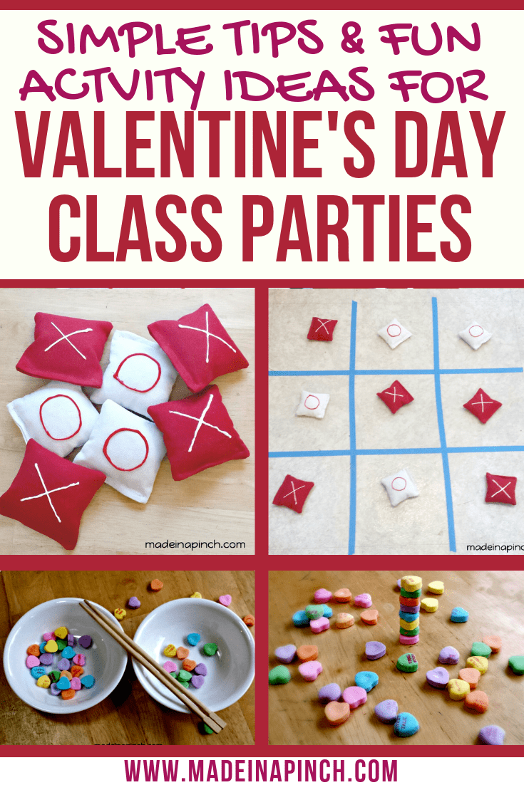 These Valentine's Day activities are a blast! Grab these ideas along with our free printables on Made in a Pinch. For more helpful tips and easy recipes, follow us on Pinterest.