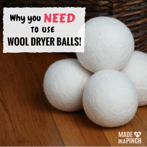 wool dryer balls social image