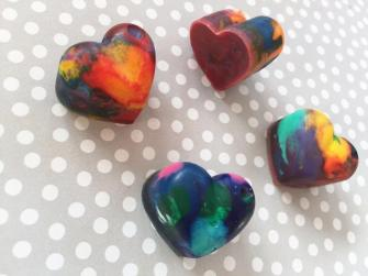 Valentine's Day activity crayon hearts