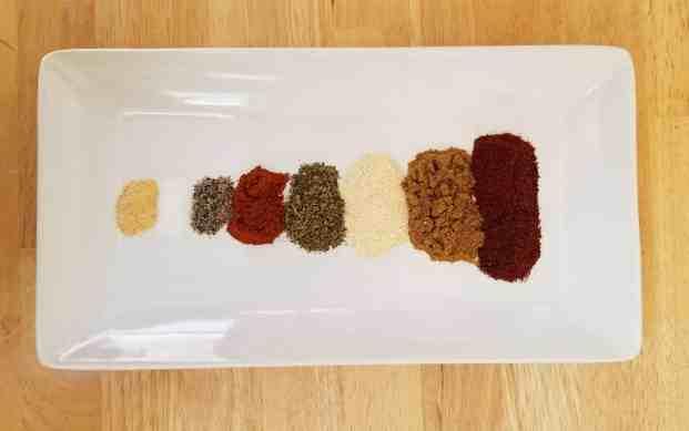 homemade taco seasoning mix ingredients
