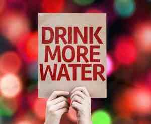 Drink more water sign red