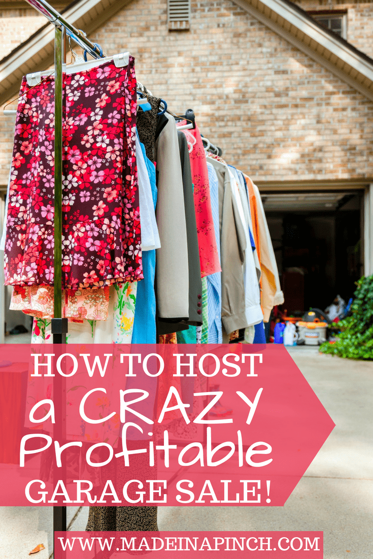 Hosting a profitable yard sale is easier than you may think! Get ALL our tips for making serious money at your next garage sale at Made in a Pinch. Follow us on Pinterest for even more tips!